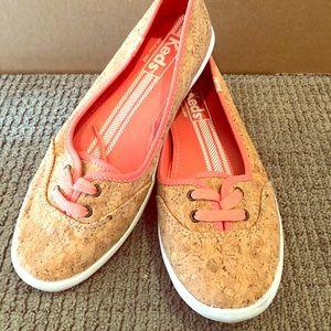 Keds cork Ballet style flat sneaker